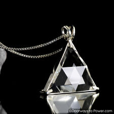 Clear Quartz Star of David Vogel Crystal Healing Pendant 'Protective Shield'