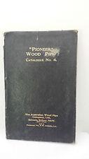 Australian 1913 Pioneer Wood Pipe Catalogue No. 4