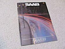 1982 SAAB 99 SALES BROCHURE IN GERMAN...
