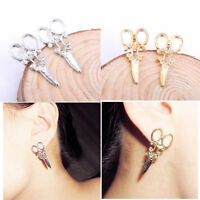 1 Paar Neu Dame Schere-Form Ohrringe Ohrstecker Stud earring Geschenk