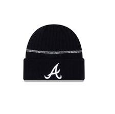 New Era MLB Atlanta Braves Navy Cuff Sport Knit Beanie Fleece Lined Winter Hat