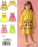 Child 3-8 Dress or Jumper and Jacket Simplicity Sewing Pattern 2680 New UNCUT
