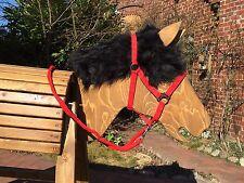 Holzpferd bewegl. Kopf ca.90 cm mit beweglichen Ohren - wetterfest lasiert
