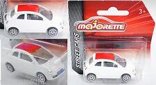 Majorette 212053051 Fiat 500 weiß, Dach rot 1:55 STREET CARS