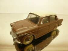 DINKY TOYS 531 FIAT 1200  - BROWN/WHITE 1:43 GOOD CONDITION - NO BOX