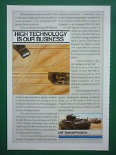 1980'S PUB DAF SPECIAL PRODUCTS DUTCH ARMY / OLDELFT OPTISCHE INDUSTRIE DELFT AD