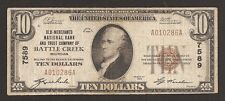 Battle Creek, Michigan, Charter #7589, Series1929, $10.00 Type –1, 266 Notes