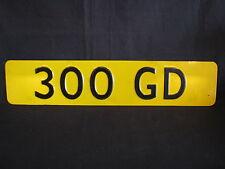 Showroom licence plate Mercedes-Benz 300 GD (JS)