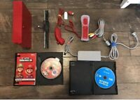 Nintendo Wii Red Super Mario Bros 25th Anniversary Limited Edition W Games
