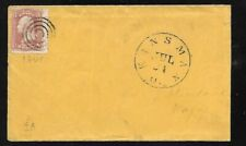 Usa: 1861; Cover with Scott 65, circulated,Kinsman to maine. EBN138