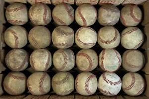 24 Used Baseballs