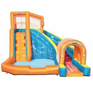 Bestway H2OGO! Hurricane Tunnel Blast Inflatable Water Park Pool with Slide