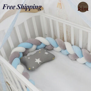 1M/2M/3M/4M Baby Bumper Crib Cot Protector Infant Bebe Bedding Set for Baby Boy
