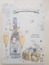 Silver 25Th Wedding Anniversary Mum & Dad Couple Wonderful Wife Husband card