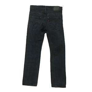 Levis 511 Slim Fit Black Jeans Boys 14 Reg 27x27 Red Tab Stretch