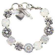 "MARIANA ""Silk"" Flower Tennis Bracelet, Silver Plated, 8"" 4501/1 1049"