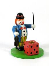 Erzgebirge Volkskunst  ♦ Otto Mertens - Kerzenhalter Clown mit Geige