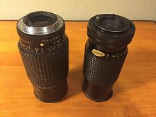 2 x Zoom Camera Lens Osawa 80~200mm / Pentax 70~210mm Parts or Repair