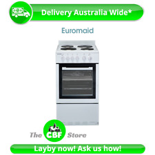 Tiny Home Euromaid EW50 50cm Upright Cooker Stove Electric Oven Solid Cooktop