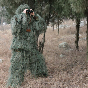 New SALE! Ghillie Suit Camo Woodland Camouflage Forest Hunting 3D 4-Piece + Bag
