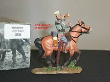 KING AND COUNTRY FW36 WORLD WAR ONE GERMAN UHLAN BUGLER MOUNTED TOY SOLDIER