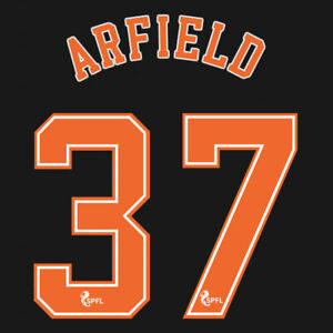 2020 2021 OFFICIAL SCOTTISH SPFL RANGERS 3RD NAME SET ARFIELD 37 = ADULTS