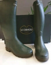 Le Chameau Men's St Hubert Leather Lined Boots size 39 UK 6 Vert CLEARANCE