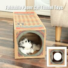 Foldable Paper Cat Tunnel Toys Home Kitten Pet Funny Playing Cave Hide Seek