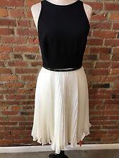 NWT Halston Heritage Dress Black White Sleeveless Day dress $445 4