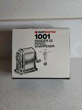 New listing Hunt Boston Ranger 55 Heavy Duty Pencil Sharpener, Silver, A Single Quantity Vtg