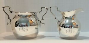 Antique Shreve, Crump & Low -  Sterling Silver Sugar & Creamer with Handles