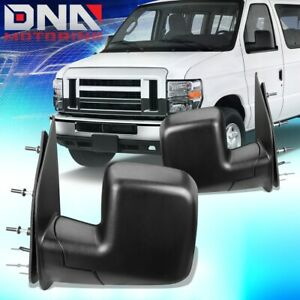 FOR 2010-2014 FORD E150 ECONOLINE PAIR OE STYLE POWERED DOOR MIRROR REPLACEMENT