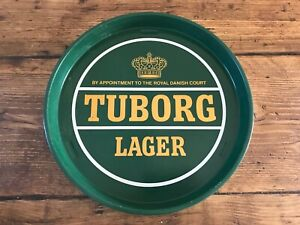 Tuborg Lager Metal Beer Tray Danish Denmark Vintage Pub Shed Man Cave Breweriana