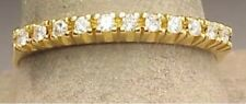 14k Yellow Gold 11 Diamond Wedding, Anniversary, Stack Band Size 8.75