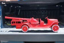 Buddy L Ladder Fire Pumper Truck 1920s - Pressed Steel - USA - repainted