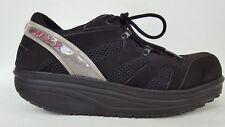 MBT Sneakers Mens 7 Womens 9 Black Sport Walking Toning Rocker Shoes Nubuck