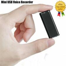 Small Covert Voice Recording Device Mini Hidden Spy Audio Surveillance Recorder