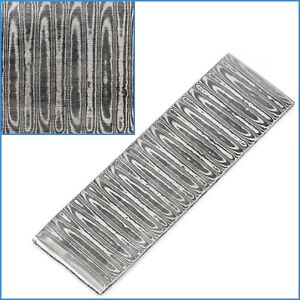 Water VG10 Sandwich Damascus Pattern Welded Steel Billet Bar 100mm x 30mm x 2.5