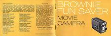 Eastman Kodak Brownie Fun Saver Movie Camera Vtge 1960's Operating Manual Photos