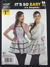Simplicity A1147 Misses' Ruffle Aprons Sewing Pattern Size Small - Large Uncut