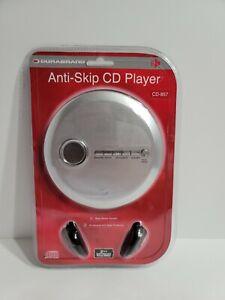 Durabrand CD-857 Portable CD Player Anti Skip Bass Boost Silver New Sealed!