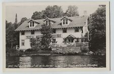 Vintage Guest House Rock Harbor Lodge  Isle Royale Michigan Real Photo  RPPC