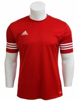 Adidas Men T-Shirt Climalite Crew Entrada 14 Red Medium Football Gym Training