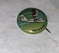 Yank Junior Martin Bomber Airplane Pinback Pin Button Vintage!