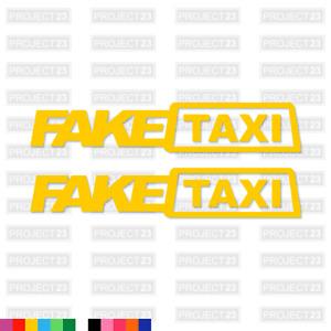 FAKE TAXI Funny Rude Prank Joke Sexy Car/Van/Bike Decal Sticker Vinyl 005