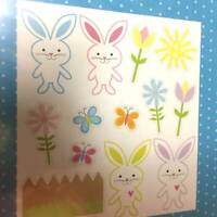 Cute Spring Easter Bunny Flowers Puzzle Magnets Holiday Decorations Party Favors