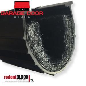 GARAGE DOOR RODENT-PROOF WEATHER SEAL - 3 METER FITS ROLLER AND SECTIONAL DOORS