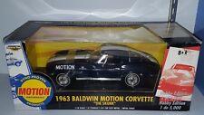 "1/18 ERTL 1963 BALDWIN MOTION CHEVROLET CORVETTE ""THE SKUNK"" DARK BLUE yd"