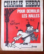 """Charlie Hebdo n°33 du 5/7/1971;  """"Pour démolir des halles..."""""""