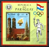Paraguay 1972 Olympiade Olympics München 1972 Block 141 Postfrisch MNH